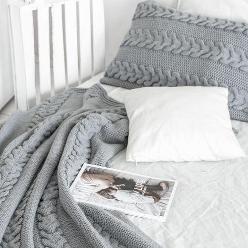 Комплект LILIAN серый: покрывало и наволочки