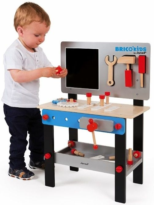 Верстак детский с магнитными инструментами Bricolo 24 аксессуара