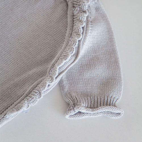 Комплект Honey серый: боди и шапочка