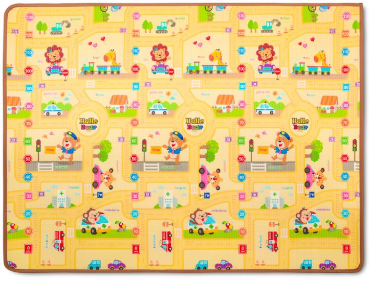 Двухсторонний коврик Prime Living 150x200x1см (Котята и Веселый город)