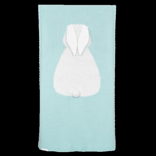APERO детский плед зайка мятный 115х190 см