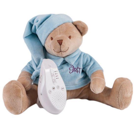 DREMA BABYDOU мишка голубой игрушка с белым и розовым шумом