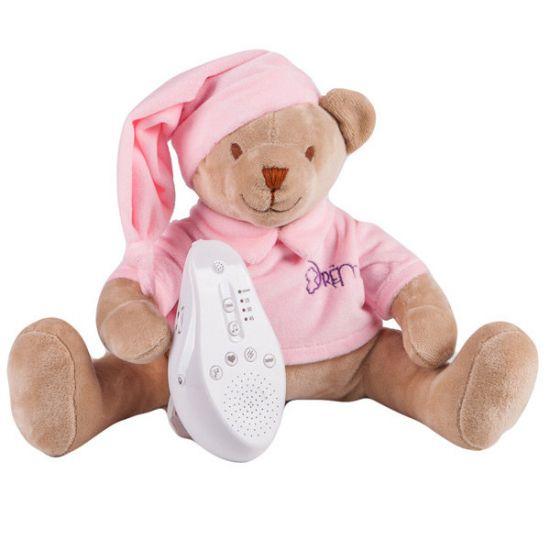 DREMA BABYDOU мишка розовый игрушка с белым и розовым шумом