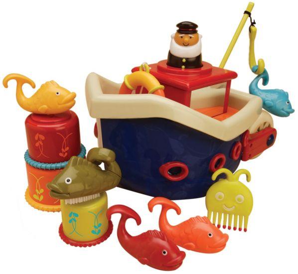 Набор игрушек для ванной Fish & Squish Кораблик B.Toys (Battat)