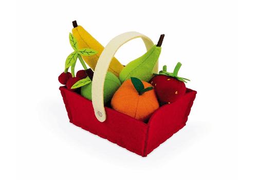 Набор фруктов в корзинке: 8 предметов Janod
