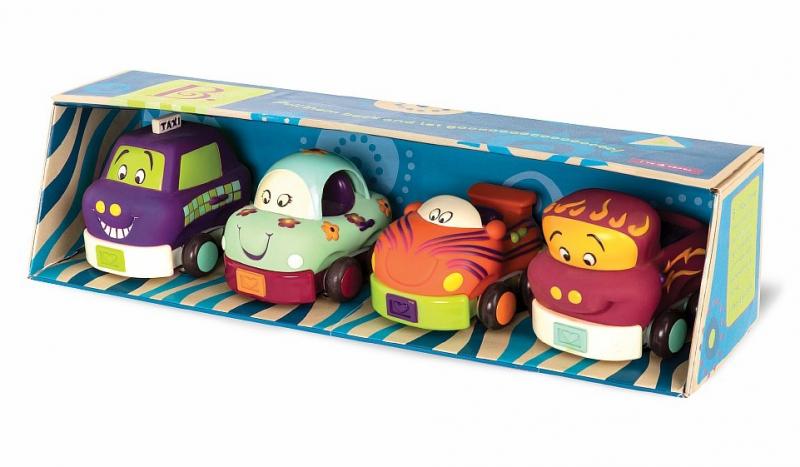 Набор инерционных машинок B.Toys (Battat) 4 шт