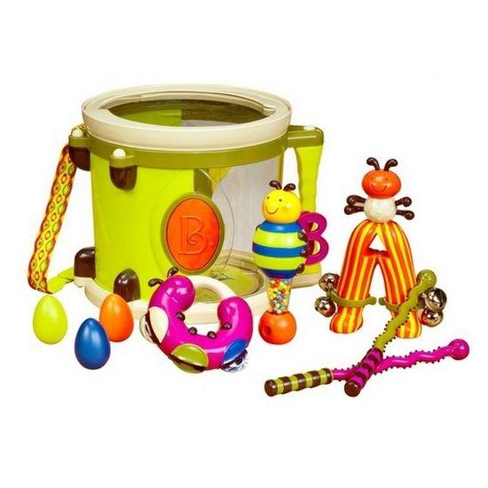 Набор музыкальных инструментов с барабаном и погремушками ПАРАМ-ПАМ-ПАМ B.Toys