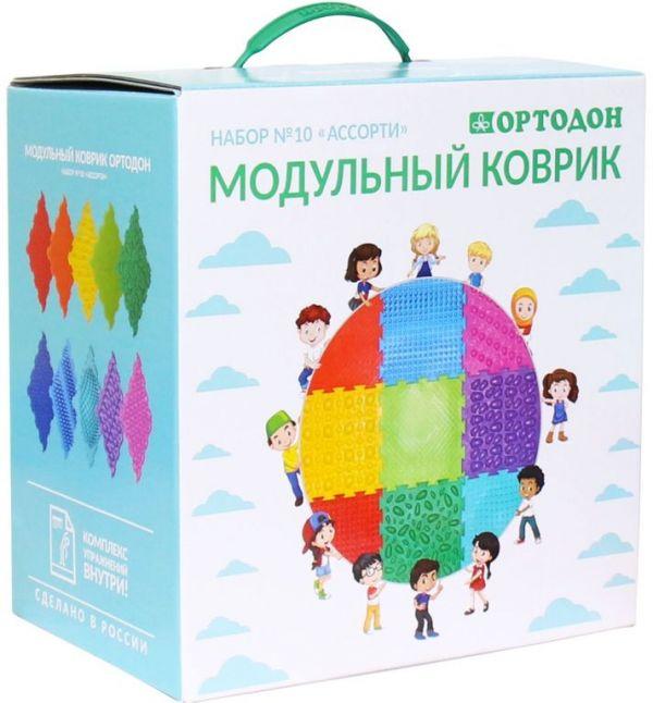 Ассорти 10 пазлов Ортодон детский массажный коврик