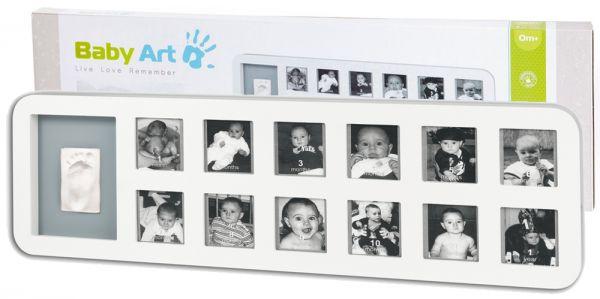 Рамочка на 12 фотографий Первый год белый