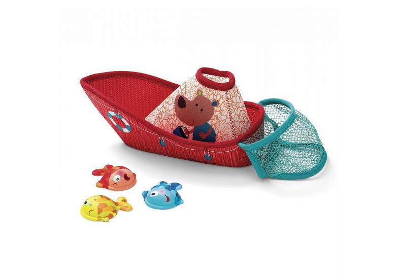 Игрушка для ванны Рыбацкая лодка Lilliputiens