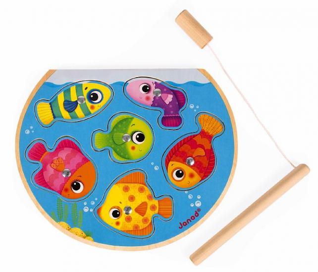 Пазл Рыбалка магнитный: 6 рыбок, 1 удочка