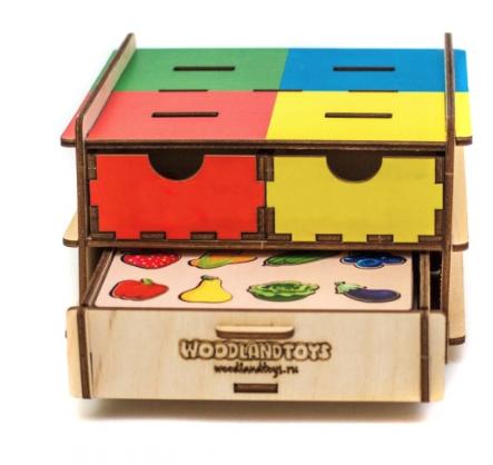 Съедобное и несъедобное Комодик деревянный WOODLANDTOYS