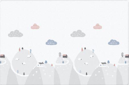 Двухсторонний коврик Bubble play 190x130x4 см (Холмы)