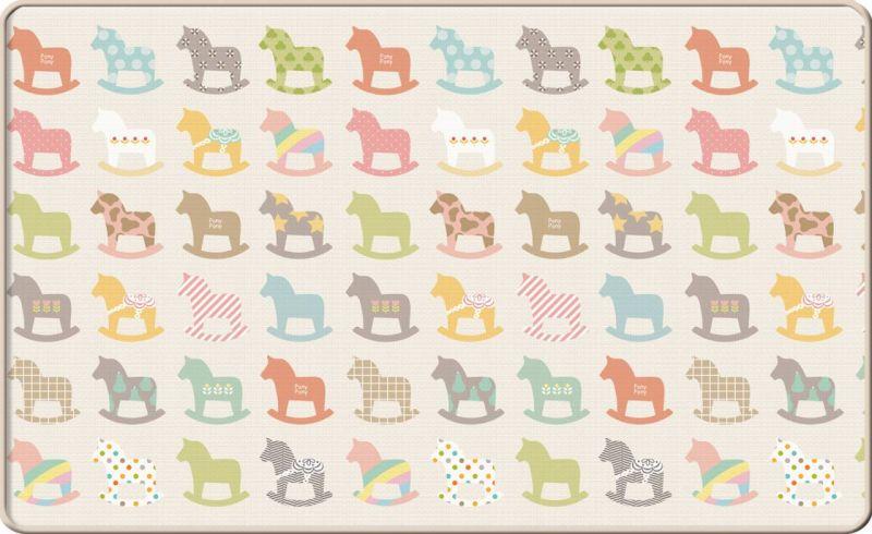 Односторонний коврик Sillky 230x140x1.2см (Деревянные лошадки)