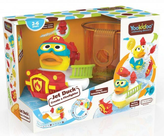 Yookidoo игрушка водная Утка-пожарный с водометом и аксессуарами