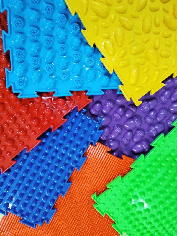 Радуга 7 пазлов Ортодон детский массажный коврик